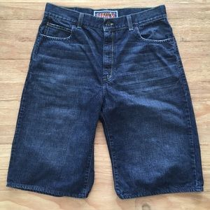 Levis 579 Baggy Jean Shorts Blue Dark Wash